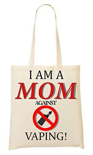 BakoIsland Mom Against Vaping Logo Tragetasche Einkaufstasche
