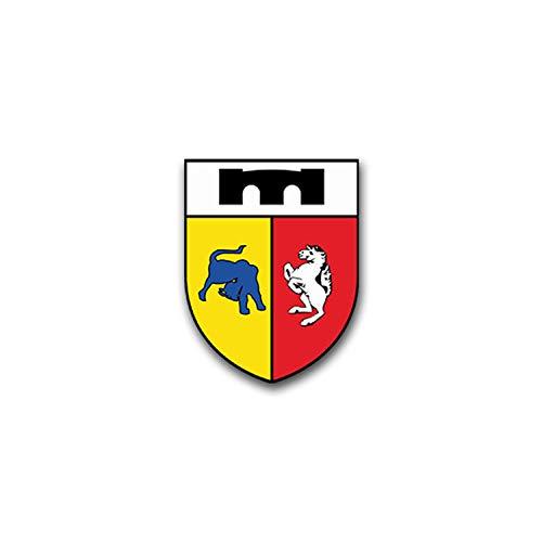 Stickers-pzPiKp 210 panzerpionierkompanie panzer leo leopard style armée avec armoiries écussons emblem design pour vW golf polo gTI bMW série 3 mercedes audi opel ford (5 x 7 cm #a1569