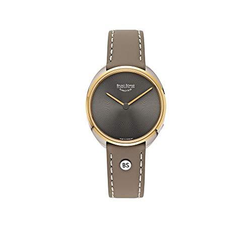 Bruno Söhnle Damen Analog Quarz Uhr mit Leder-Kalbsleder Armband 17-23211-771