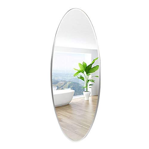 JIZI Specchio Figura Intera da Parete, Ovale Senza Cornice Bagno Camera da Letto Soggiorno Appartamento specchi Appeso, Specchio spogliatoio, 120 * 40 cm, 140 * 40 cm
