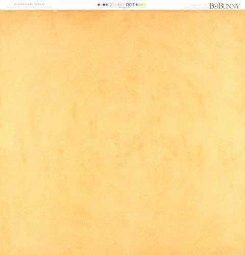 """Bo Bunny DD Double Dot Paper 12x12 Tangerine, 12""""x12"""" -  Bazzill, BBU12TG922"""