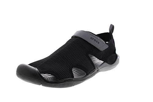 Crocs Damenschuhe Swiftwater MESH Sandal Black Charcoal, Größe:42/43 EU