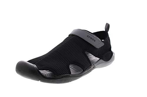crocs Damenschuhe Swiftwater MESH Sandal Black Charcoal, Größe:39/40 EU