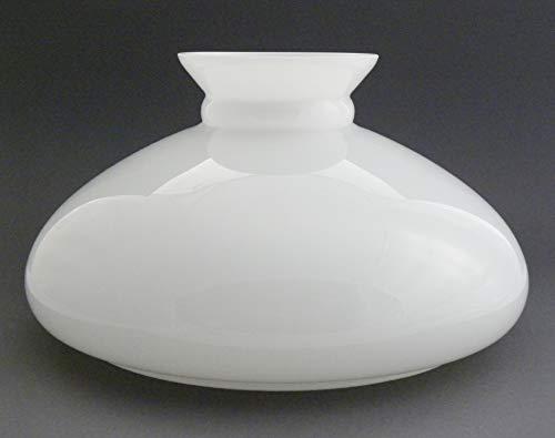 Vestaglas opal weiss, Durchmesser 24,4 cm, Ersatzglas, Lampenglas für Petroleumlampe, Lampenschirm aus Glas auch für die elektrische Tischleuchte