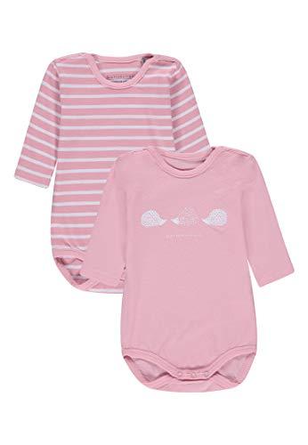 Bellybutton Kids Bellybutton Kids Baby-Unisex Set 2 TLG. Pack 1/1 Arm Formender Body, Schwarz (Pink Icing 2690), 62