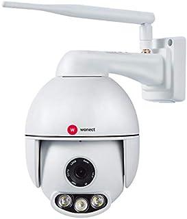 Camara exterior IP WiFi PTZ Sonido Google Home Amazon Alexa Wonect T54 Camara de seguridad. Camara de vigilancia Wi-Fi. Inalámbrica. Motorizada. Con audio. Compatible asistentes de voz