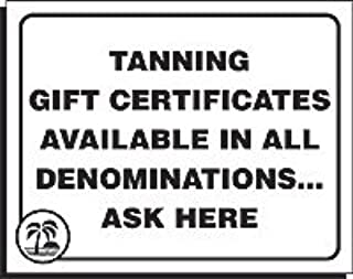 tanning gift certificates