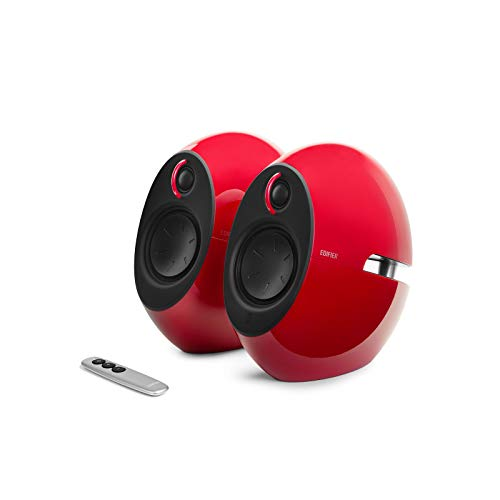 EDIFIER Luna E25 - Altavoces con Bluetooth (74 W), Color Rojo