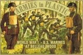 WWI US Marines at Belleau Wood (20) 1/32 Armies in Plastic