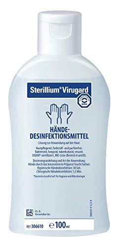 Sterillium Virugard 10x100ml Sparset, Hautpflegend, farbstof und parfümfrei mit bakterizider, fungizider, mykobakterizider, viruizider Wirkung ist DGHM-zertifiziert