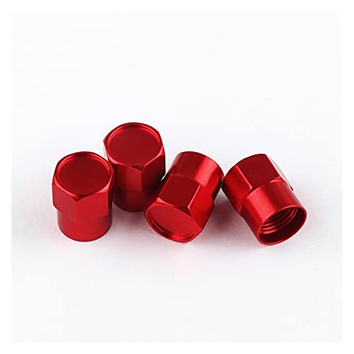 WOAIWO LingDian 4 unids/Set New Metal Wheel Newe Tire Taps Fit para Audi Mercedes Benz VW Toyota Lada Lexus Suzuki Mazda Mitsubishi Volvo Seat Ford (Color Name : Red, Style : For SAAB)