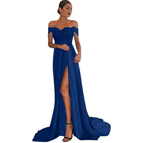 Abito Senza Spalline Lungo Donna Cerimonia Party con Spacco Scollo a Cuore Vestito da Sera Elegante...