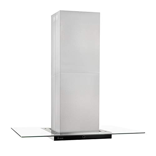 KKT KOLBE Premium-Dunstabzugshaube/Inselhaube / 90cm / Edelstahl/Klarglas/Extra-leise/Energieklasse A+ / 9 Stufen/LED-Beleuchtung/Display/TouchSelect Sensortasten/MULTI-INSEL-TC9