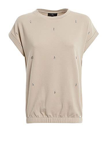 Fay t-Shirt Gioiello NPWB240675SRRBC003 Beige Donna XS