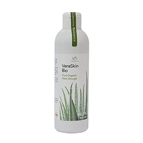Benessence - Gel d'Aloe Vera Biologique pur à 98,8% - Hydratant - Apaisant - Produit Italien issu de Nos Cultures Made In Italy -250 ml