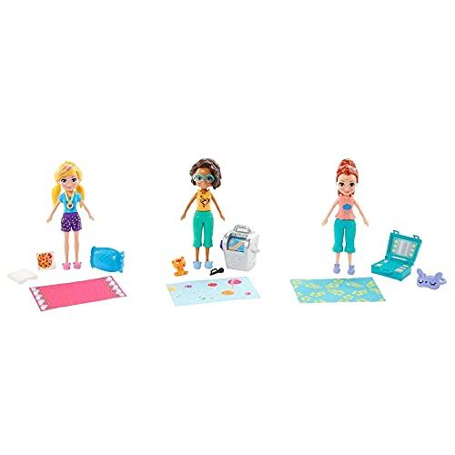 Polly Pocket Clubhouse Festa do Pijama 3 bonecas - Mattel