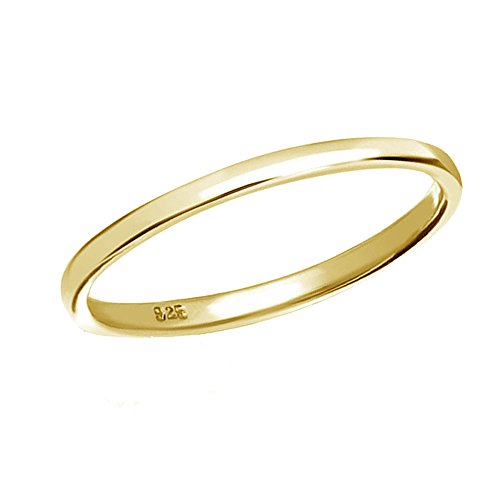 14K Gold-Plated Sterling Silver Band Baby Ring