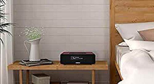 Sangean DDR-36 DAB+ Digitalradio (DAB+/UKW-Tuner, Bluetooth, Weckfunktion, Sleep-Timer, AUX-In) inkl. Fernbedienung burgunderrot