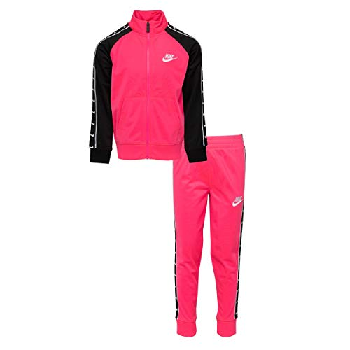 Nike Kids Baby Girl's Logo Taping Jacket and Pants Two-Piece Set (Toddler) Hyper Pink 2T Toddler