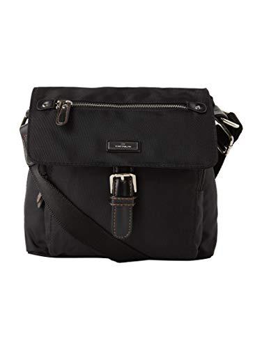 TOM TAILOR Damen Taschen & Geldbörsen kleine Überschlagtasche schwarz/black,OneSize