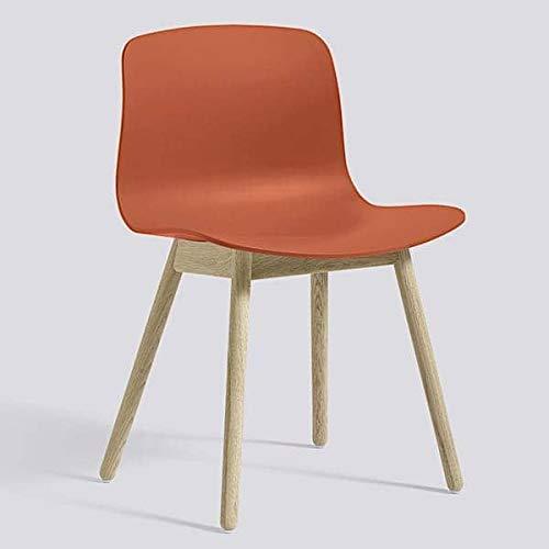 La chaise About a Chair par HAY - réf. AAC12 et AAC12 DUO - assise en polypropylène, piétement en bois, chêne ou frêne - l'art du design nordique - AAC12 coussin de siège optionnel, pour assise polypropylène (pas pour la version DUO proposée ci-dessous) : - - Piètement chêne blanchi : Orange