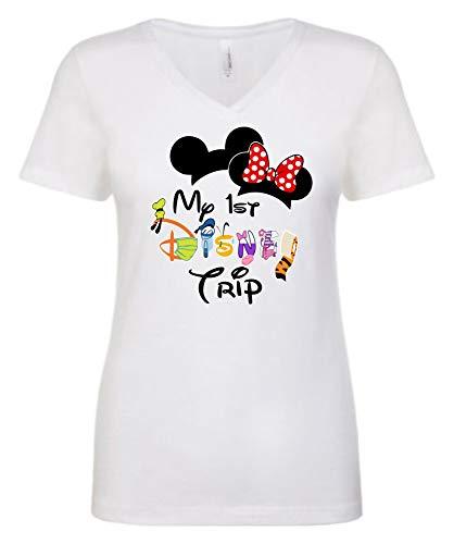 My 1st Disney Trip Social Disneying, Masked Minnie,Mickey Disney Quarantine Disney Family Vacation Matching Valentine Matching Tshirt