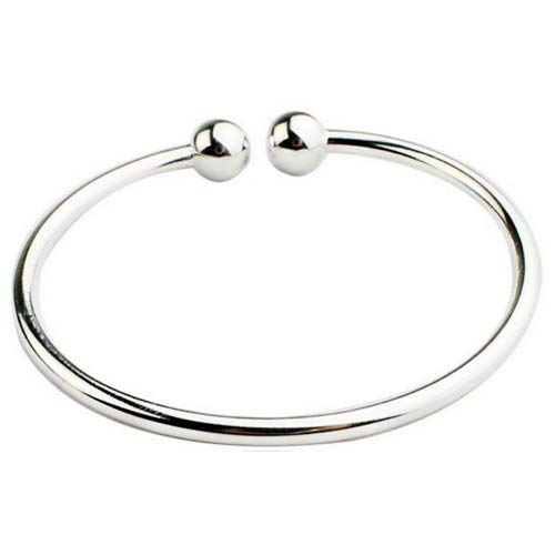 Fashion Women Jewelry Solid 925 Sterling Silver Bangle Bracelet Gift