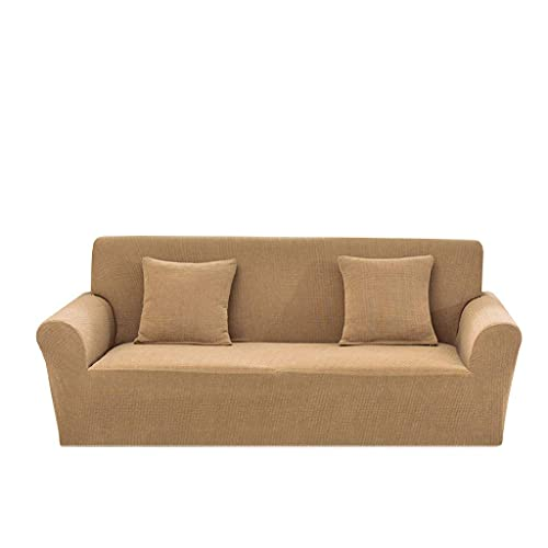 Sofabezug All Inclusive, Home Cover Elastic Force Solid Color Skid Resistance Water Resistant Four Seasons General Purpose for Living Room Couch.