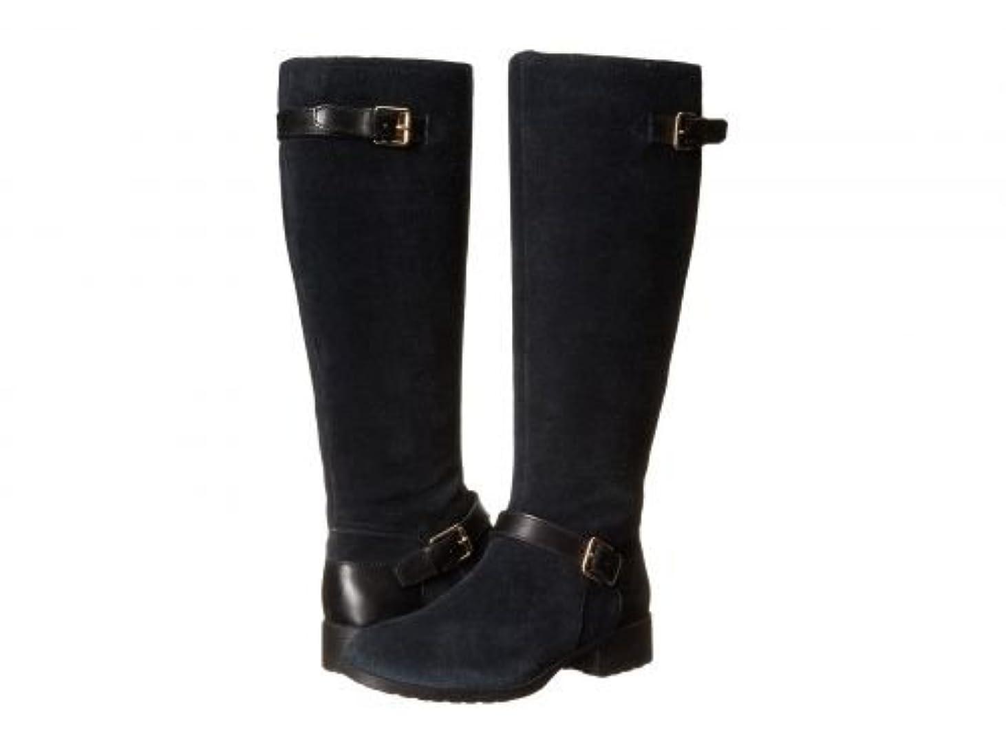 惑星アルファベット医療過誤[コールハーン] レディース 女性用 シューズ 靴 ブーツ ロングブーツ Marla Waterproof Boot - Black Suede/Black Leather [並行輸入品]