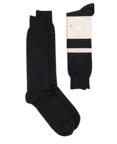 BellePaga Alpaka-Socken für Damen, Winter, halbhoch, fein & warm, unifarben, aus Alpaka-Wolle, Thermoregulierung, Größen 35 bis 42 Gr. 35-38, Schwarz