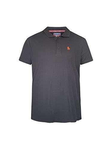 S&C - Polo a maniche corte, da uomo, vestibilità regolare Nero L