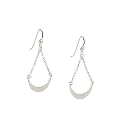 Ellvina Pendientes elegantes de plata esterlina 925 (JAE-4935) plateado