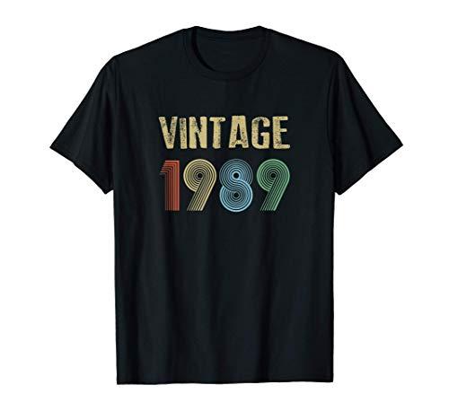 1989 Vintage Birthday Camiseta