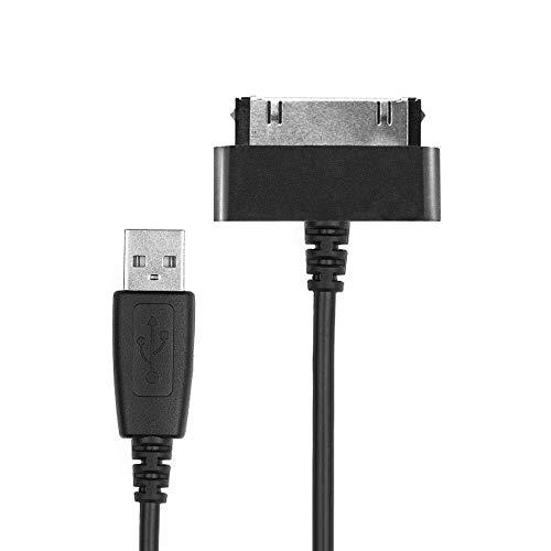 CELLONIC® Cavo USB dati (1.0m) compatibile con Samsung Galaxy Note 10.1 Tab 8.9 Tab 2 7.0 Tab 2 10.1 GT-N8000 GT-P3100 GT-P5100 (Connector (30 Pin) a USB A (Standard USB)) cavo ricarica nero