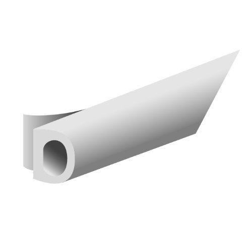 Dichtungsprofil selbstklebend, Typ D, Kunststoff weiß, 1 Stück = 7,5 Meter ; 1 Stück