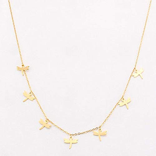 yuge Non-Fading Stainless Steel Animal Butterfly Star Gold Women Choker Necklaces Pendants Femme Chain Jewelry Gift 0633gold