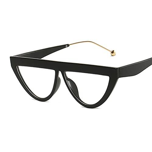 Hanpiyignstyj Gafas De Sol, Caja Cuadrada de Gran tamaño Plano Top Gafas de Sol de Moda Mujeres Retro Gato Ojo Gafas de Sol Mujeres (Lenses Color : Black)