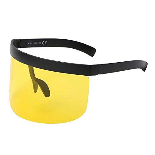Battnot Sonnenbrille Hut für Damen Herren, Oversized Übergroßer Unisex Vintage Mode Rahmen Anti-UV Gläser Schutzbrillen Männer Frauen Retro Billig Sunglasses Women Outdoor Anti-Guck Eyewear