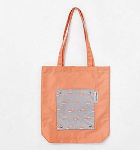 Boodschappentas duurzame reisopslag non-woven schoudertas herbruikbare dames handtas opbergtas-oranje