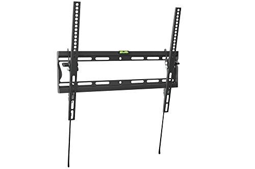 DIGITUS TV Wandhalterung für Bildschirme von 32 - 55 Zoll Diagonale, bis 35 kg, bis -10° neigbar, Schwarz