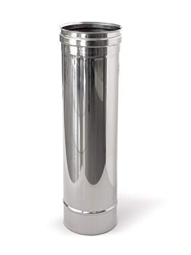 Tubo in acciaio inox per canne fumarie L1000mm (DN 120)