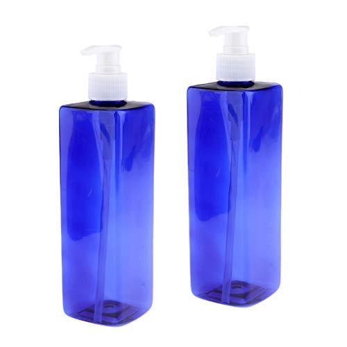 Amuzocity 2pcs 500 Ml Flacon Pompe de pulvérisation en Plastique Bleu Récipient Cosmétique Vide Atomiseur Pompe - #2Pompe blanche
