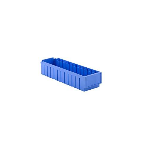 SSI Schäfer Regalkasten RK 621, 12 Fächer, für Regaltiefe 600 mm, blau