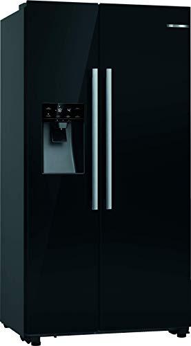 Bosch Hausgeräte KAD93VBFP Serie 6 Amerikanischer Side-by-Side/A+ / 178,7 x 90,8 cm / 436 kWh/Jahr/schwarz / 380 l Kühlteil / 220 l Gefrierteil/NoFrost/SuperKühlen