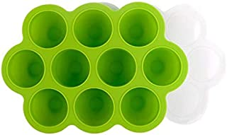Silicone Baby Food Freezer Tray with Clip-on Lid - Perfect Storage Container for Homemade Baby Food, Vegetable Fruit Puree...