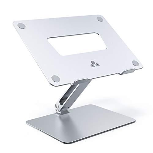 ZTSS Soporte de Portátil Arenado, Ergonomía Aluminio Soporte para Laptop Portátil Plegable y Ajustable Soporte Ordenadores para Todos Los Portátiles 11-15.6 Pulgadas MacBook/Notebook