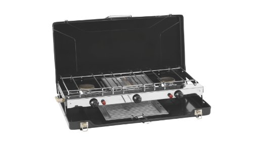Outwell Vorspeise Herd 3-Brenner Herd + Grill – Silber, One Size