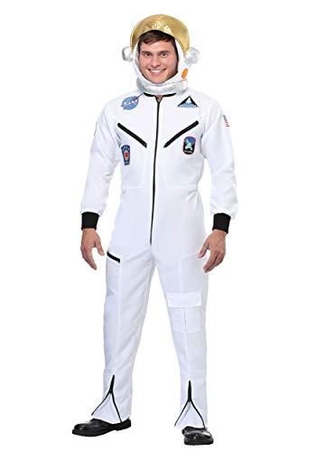 Volwassen witte Astronaut Jumpsuit Feestkleding Kostuum