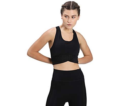 PUMA Damen Mid Impact Flawless Bra Sport Bh, Black, M