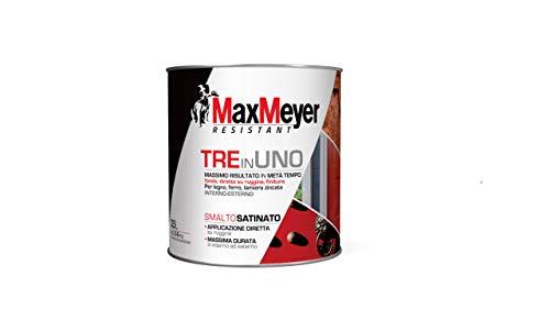 MaxMeyer Smalto satinato all'acqua 3 in 1 BIANCO 0,5 L